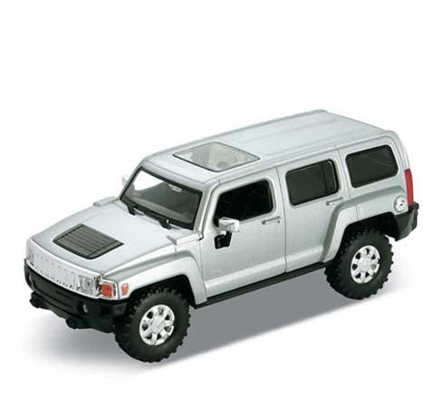 Auto 1:34 Welly Hummer H3 stříbrný
