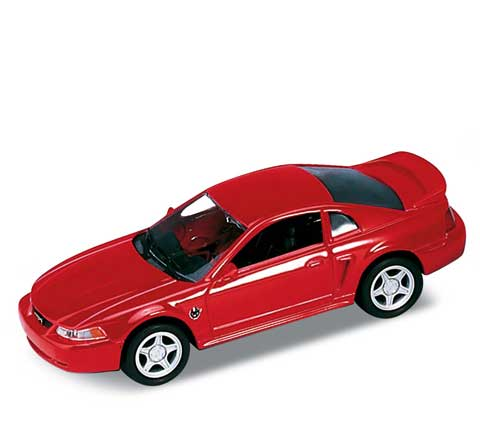 Auto 1:34 Welly Ford 99 Mustang GT červe