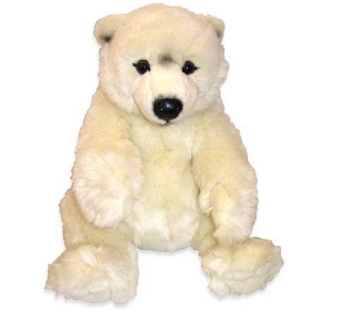 Medvěd bílý sedící