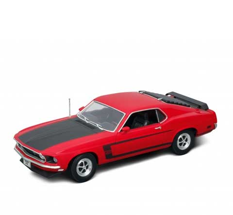 Auto 1:18 Welly 1969 Ford Mustang červen