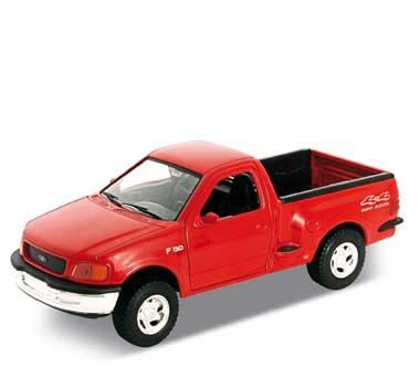Auto 1:24 Welly FORD F150 červená