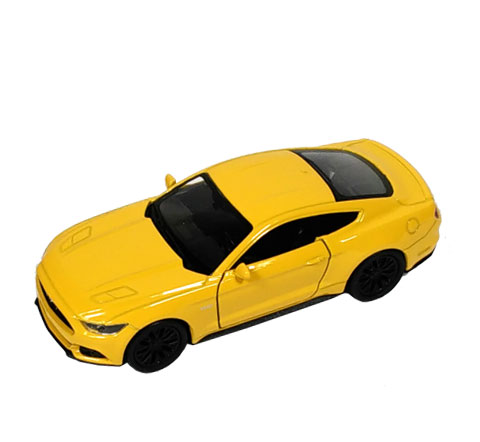 Auto 1:34 Welly 2015 Ford Mustang GT žlu