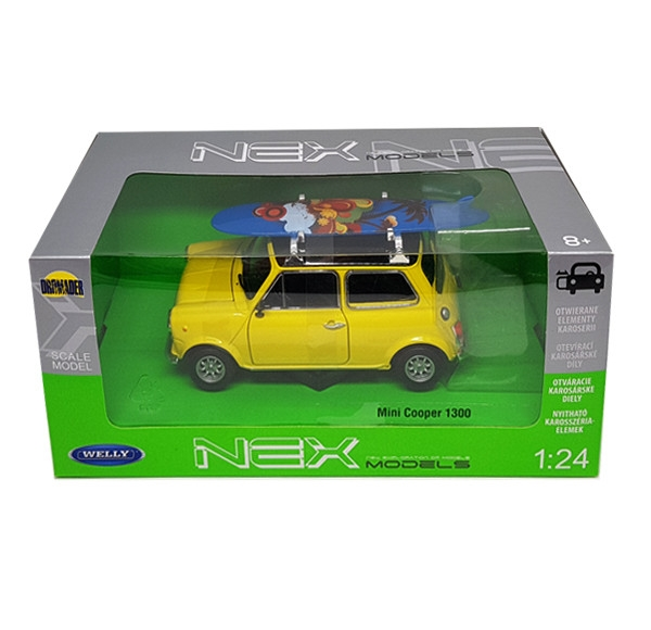 Auto 1:24 Welly MINI Cooper With Surfboa