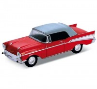 Auto 1:34 Welly Chevrolet 57 Bel Air čer