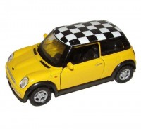 Auto 1:34 Welly Mini Cooper žltý