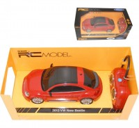 Auto RC 1:24 Welly 2012VW New Beetle čer
